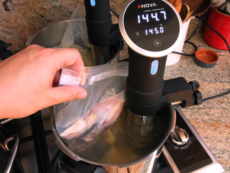 pollo a baja temperatura y al vacío