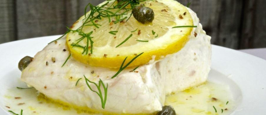 bacalao sous vide con limon y alcaparras