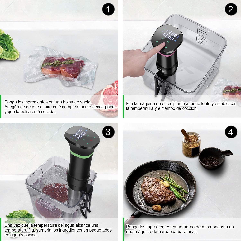 como cocinar a baja temperatura y al vacío